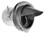 Ductboard Spin Collar w/ Scoop & Damper