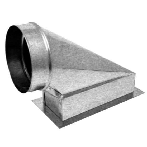 End Ext Boot W Flange Amp Ceiling Radiation Damper