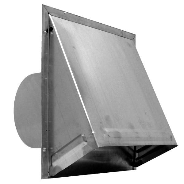 Aluminum Wall Cap w/ Damper